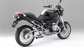 BMW R1200R Side Back Pose In Black